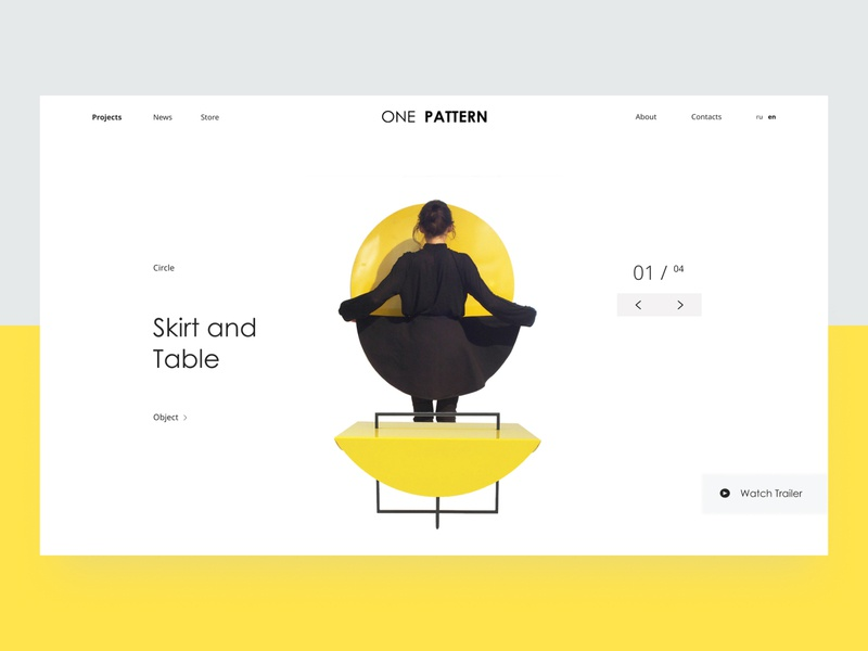 ONE PATTERN fashion furniture lending project page minimal clean web design webdesign website web typography brand identity design uiux design ui design uidesign ux design ux ui