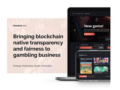 MoonRock - Crypto Casino logo design branding app adobe xd ux ui