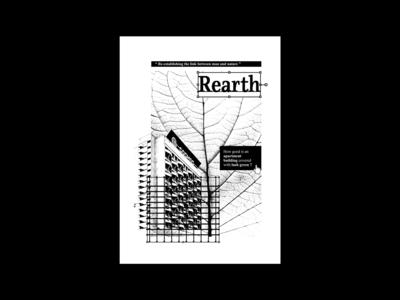 Rearth I marketing ad print abstract print design photoshop type art advertisment concept art illustrator poster design flat