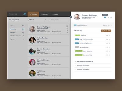 User Details contact nav filter list profile user concept ux ui app
