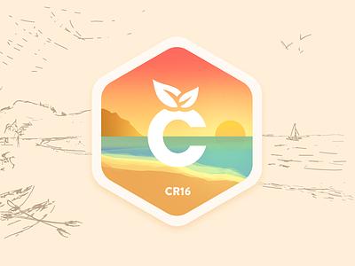 Citrusbyte Retreat - Costa Rica 2016 landscape retreat colorful sea logo badge sketch sunset warm beach citrusbyte
