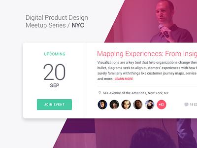 Digital Product Design Meetup attending list upcoming website interface social new york event calendar ui meetup
