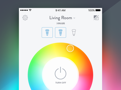 Concept Light smart house home color picker philips hue bulbs wheel color hue connected iot lights