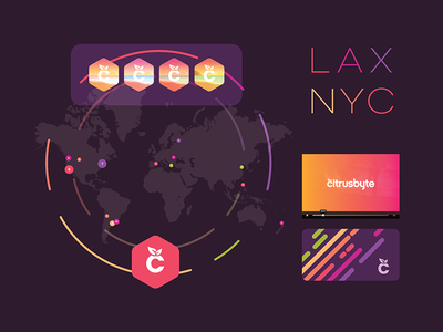 Distributed Team nyc lax card ui team map player colorful color identify exploration brand