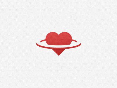 Healthy Planet planet logo heart texture red health citrusbyte