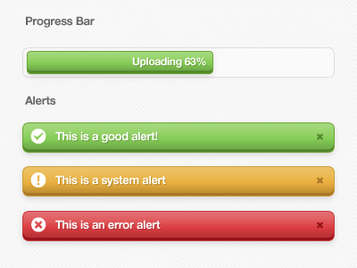 Guidelines green orange red progress bar alert guidelines gui ui css citrusbyte