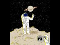 Posing Astronaut