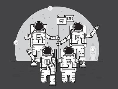 Successful Launch achievement teamwork astronaut vehicle sweatshirt space rocket merchandise hoodie commemoration