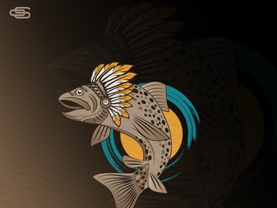 Trout chief logo design scartdesign logo design chief logo trout