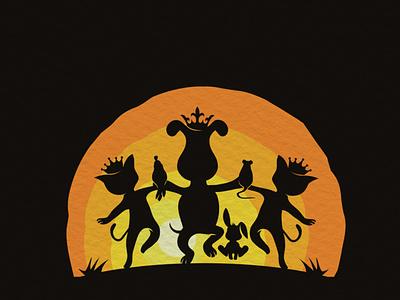 Pet King shadow logo design scartdesign shadow desing logo king pet