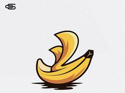 Banana boat clever logo design scartdesign logo logodesign boat logo boat banana