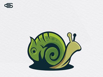 Chameleon snail logo design scartdesign logo logodesign chameleon logo snail chameleon
