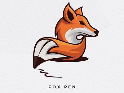 Fox pen clever logo design scartdesign logodesign logo clever fox logo pen fox