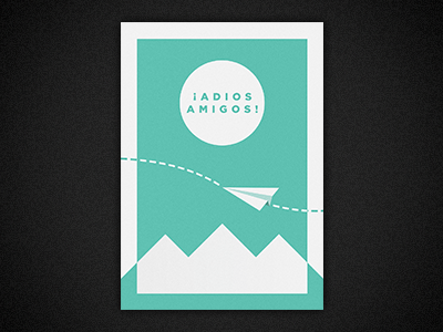 Goodbye my Friends goodbye friends plane mountains minimal poster