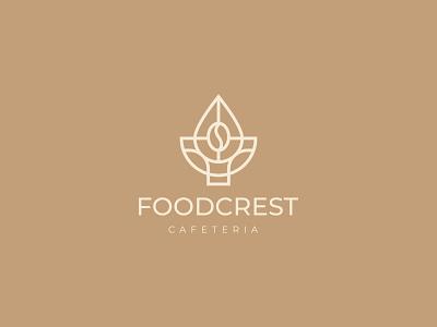 Foodcrest Cafeteria luxurious elegant simple monogram design logo modern log restaurants cafe coffee graphic design branding brandidentity