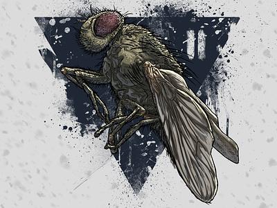 """муха  (Арт-проект """"насекомые"""") digitalart poster comics art illustration"""