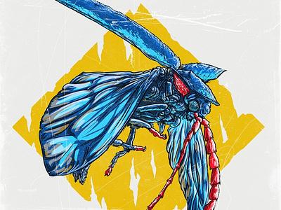 """Арт-постеры """"насекомые"""" digitalart poster comics art illustration"""