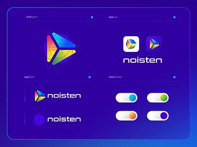 Noisten   Logo Composition ux vector ui branding modern logo illustration icon design colorful app software technology tech