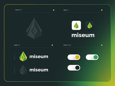 Miseum | Logo Composition ux vector modern illustration icon design colorful app 3d branding logo motion graphics graphic design ui