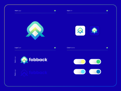 Fobback |  Logo Composition visual vector ux ui modern logo illustration icon design colorful app branding