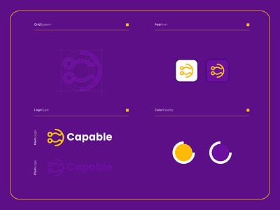 Capable | Logo Composition website vector branding ui modern logo illustration icon design colorful app cletter monogram cdesigns clogo