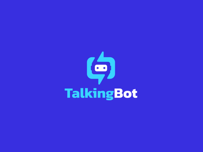 TalkingBot applications software ux ui logo illustration icon design colorful app modern simple course language robot bot chatting chat talking