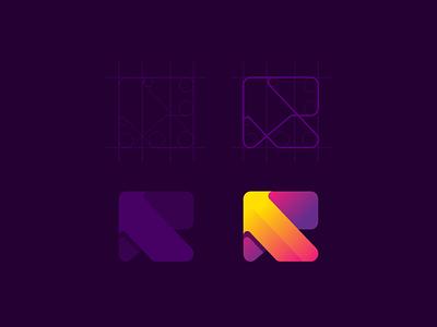 RealBlock modern logogram logomark mark logo icon design colorful app applications apps mobile moderlogo combination monogram rlogo rb
