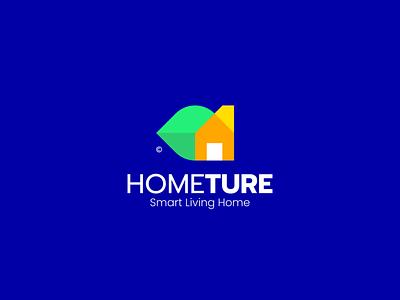 Hometure - Smart Living Home illustration modern mark logomark logotype logo icon design colorful app environtment nature living smart house home