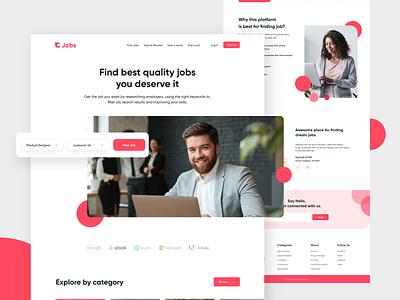 Finding Jobs webuiuxdesign ui  ux uidesign userinterface landing page design website website design web design find job minimalism ui branding design