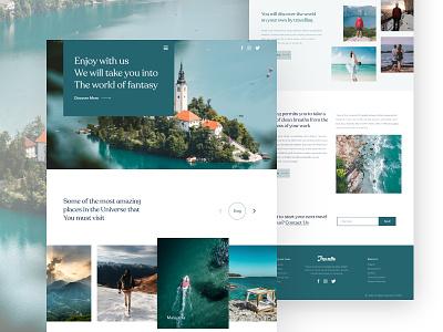 Travello Website Design uibin user experience logo webuiuxdesign ux ui website design minimalism landing page design app design branding 2020