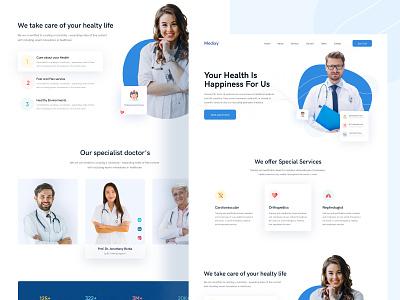 Medixy    Medical Consultant Landing page concept uibin website design landing page design app 2020 ui ux minimalism design branding