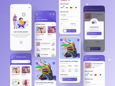 Education App Conceptual Design product design product mobile app 2021 trend 2021 ios app school education app business education ios app uibin minimalism ui ux design