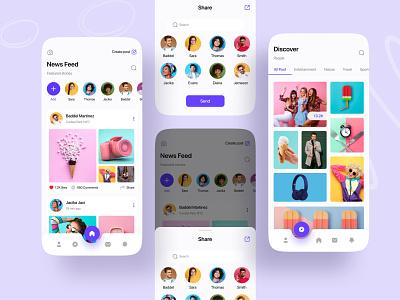 Social App || Conceptual Design 2021 trend 2021 ios product product design product social app ios app social ios app uibin minimalism ux ui design