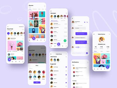 Social App 2.0 || Conceptual Design 2021 trend 2021 color ios product product design product social media design social media business ios ios app social app social app uibin minimalism ux ui design