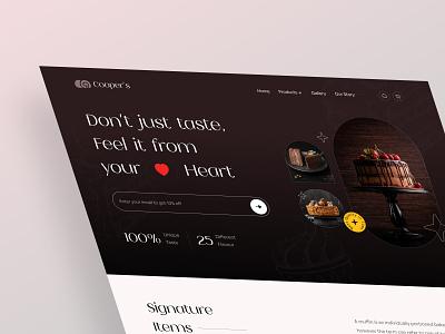 Cooper's Landing Page Design Concept 2021 trend 2021 minimal cleanui unbox website design business ecommerce bakery landing page minimalism ux ui design