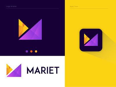 m letter logo managment platform online recent logo creative logo concept custom gradients logotype m symble m monogram m mark creative smart logo business company branding brand identity