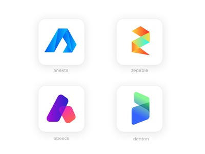modern icon l ios icon l android icon l modern logo gradient monogram mark unique logo creative branding modern apps brand identity business company mobile app responsive design apps android app design android app