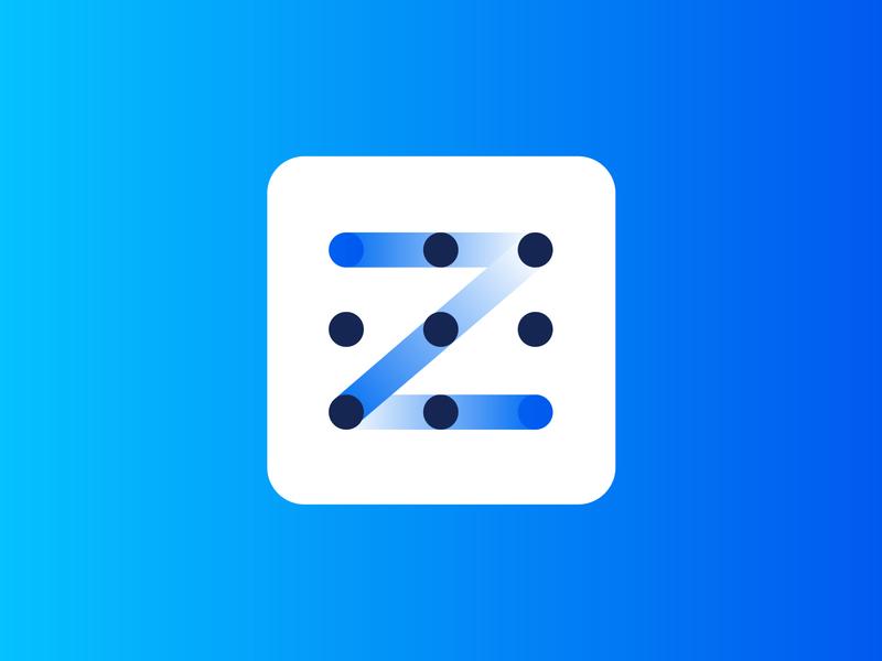 z pattern logo design modern logo gradient design vector z logo conceptual logotype branding idenity logos gradient best logo design application monogram app mobile app z letter logo pattern