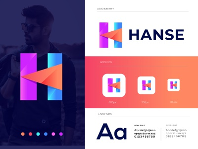 h letter logo l h modern logo l h mark l best logo designer in dribbble best logo modern logo designer modernism hand drawn h letter h mark hand lettering h logo logo mark gradient concept recent logo logo 2020 logo designer smart logo creative business company branding brand identity