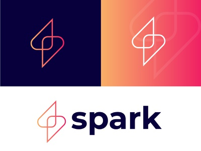 spark tech logo mark l bolt l power l energy simple creativity platfrom tecnology tech logo hire logo designer gradient logo modern logo minimalist monogram simplicity brand mark line art logo spark energy power bolt creative logo designer smart logo branding brand identity