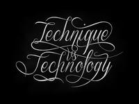Technique vs technology