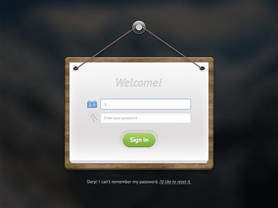 Login Form PSD login form psd freebie resource download hanging skeuomorphism