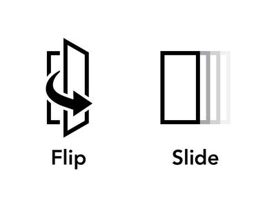 Flip & Slide Icons