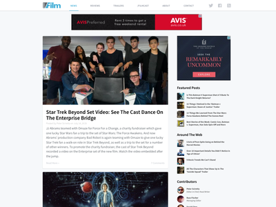 Slashfilm WWW Redesign redesign film website www slashfilm