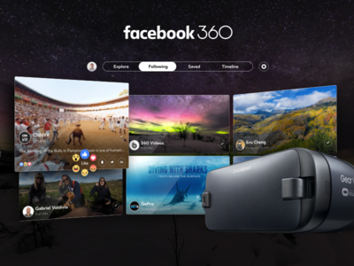 Facebook 360 for Gear VR app videos photos 360 grid gear vr facebook vr