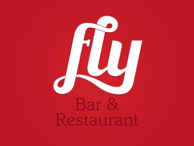 Fly Bar logo fly bar restaurant logo brandmark identity