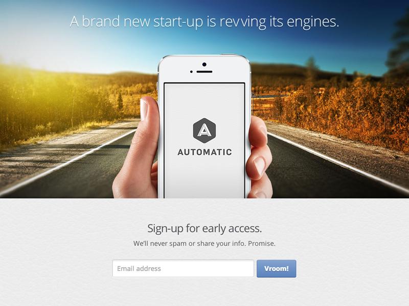 Automatic splash page