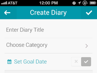 Create diary calendar