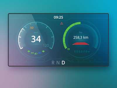 Car Display UI Design transparent vector prototype car design ui ux adobe illustrator