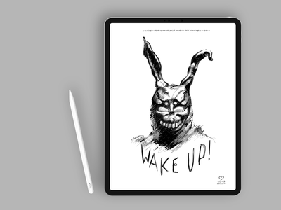 Wake up, Donnie! design art black and white comic creative dark illustration mobile monster paint digital illustration sketch draw film apple pro create procreate ipad